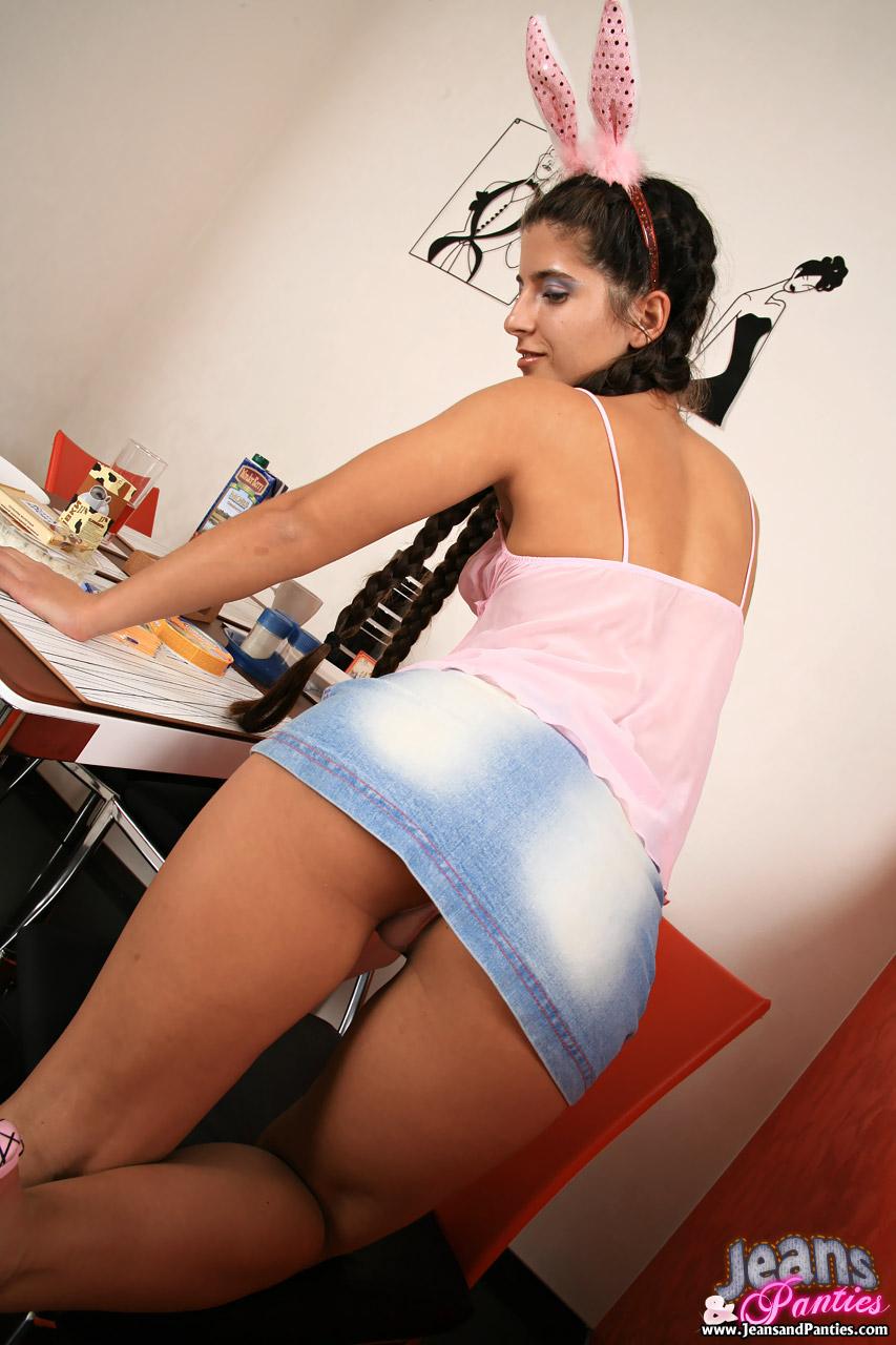 Jean skirt panties
